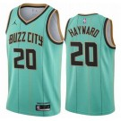Men's Charlotte Hornets #20 Gordon Hayward Green 2021 City Icon Hot Press Jersey