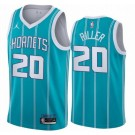 Men's Charlotte Hornets #20 Grant Riller Green 2021 Icon Hot Press Jersey