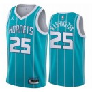 Men's Charlotte Hornets #25 PJ Washington Green 2021 Icon Hot Press Jersey