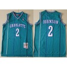 Men's Charlotte Hornets #2 Larry Johnson Blue 1992 Hollywood Classic Swingman Jersey