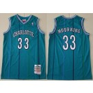 Men's Charlotte Hornets #33 Alonzo Mourning Green 1992 Throwback Swingman Jersey