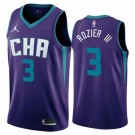 Men's Charlotte Hornets #3 Terry Rozier III Purple Statement Icon Hot Press Jersey