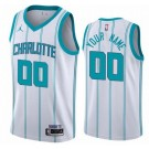 Men's Charlotte Hornets Custom White 2021 Icon Hot Press Jersey