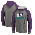 Men's Charlotte Hornets Gray 3 Printed Pullover Hoodie