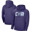 Men's Charlotte Hornets Purple Statement Edition Fleece Pullover Hoodie