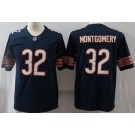 Men's Chicago Bears #32 David Montgomery Limited Navy Vapor Untouchable Jersey