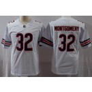 Men's Chicago Bears #32 David Montgomery Limited White Vapor Untouchable Jersey