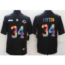 Men's Chicago Bears #34 Walter Payton Limited Black Crucial Catch Vapor Untouchable Jersey