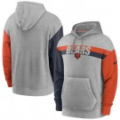 Men's Chicago Bears Gray Heathered Heritage Tri Blend Pullover Hoodie