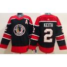 Men's Chicago Blackhawks #2 Duncan Keith Black 2021 Reverse Retro Authentic Jersey