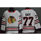 Men's Chicago Blackhawks #77 Kirby Dach White Authentic Jersey