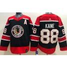 Men's Chicago Blackhawks #88 Patrick Kane Black 2021 Reverse Retro Authentic Jersey