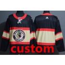 Men's Chicago Blackhawks Customized Black Alternate Authentic Jersey