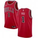 Men's Chicago Bulls #1 Derrick Rose Red Icon Hot Press Jersey