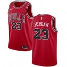 Men's Chicago Bulls #23 Michael Jordan Red Icon Hot Press Jersey