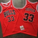Men's Chicago Bulls #33 Scottie Pippen Red 1997 Throwback Authentic Jersey