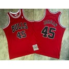 Men's Chicago Bulls #45 Michael Jordan Red 1994 Throwback Authentic Jersey