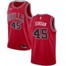 Men's Chicago Bulls #45 Michael Jordan Red Icon Hot Press Jersey