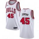 Men's Chicago Bulls #45 Michael Jordan White Icon Hot Press Jersey