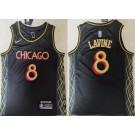 Men's Chicago Bulls #8 Zach Lavine Black 2021 City Icon Swingman Jersey