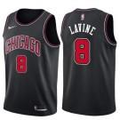 Men's Chicago Bulls #8 Zach Lavine Black Icon Hot Press Jersey