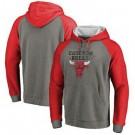 Men's Chicago Bulls Gray Red 1 Printed Pullover Hoodie