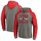 Men's Chicago Bulls Gray Red 2 Printed Pullover Hoodie
