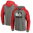 Men's Chicago Bulls Gray Red Printed Pullover Hoodie