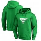 Men's Chicago Bulls Green Printed Pullover Hoodie