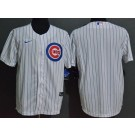 Men's Chicago Cubs Blank White Cool Base Jersey