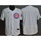 Men's Chicago Cubs Blank White FlexBase Jersey