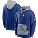 Men's Chicago Cubs Blue Heritage Tri Blend Pullover Hoodie