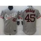 Men's Chicago White Sox #45 Michael Jordan Gray Alternate FlexBase Jersey