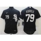 Men's Chicago White Sox #79 Jose Abreu Black FlexBase Jersey