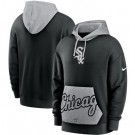 Men's Chicago White Sox Black Heritage Tri Blend Pullover Hoodie