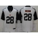 Men's Cincinnati Bengals #28 Joe Mixon Limited White Rush Color Jersey