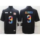 Men's Cincinnati Bengals #9 Joe Burrow Limited Black Crucial Catch Vapor Untouchable Jersey