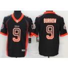 Men's Cincinnati Bengals #9 Joe Burrow Limited Black Drift Vapor Untouchable Jersey