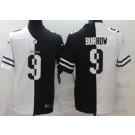 Men's Cincinnati Bengals #9 Joe Burrow Limited Black White Split Jersey
