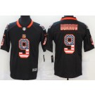 Men's Cincinnati Bengals #9 Joe Burrow imited Black USA Flag Vapor Untouchable Jersey