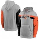 Men's Cincinnati Bengals Gray Heathered Heritage Tri Blend Pullover Hoodie