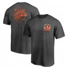 Men's Cincinnati Bengals Iconic Retro Diamond Scroll Printed T-Shirt 0829