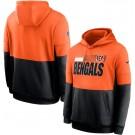 Men's Cincinnati Bengals Orange Black Sideline Impact Lockup Performance Pullover Hoodie
