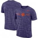 Men's Clemson Tigers Purple Velocity Sideline Legend Performance T Shirt 201063