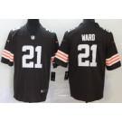 Men's Cleveland Browns #21 Denzel Ward Limited Brown 2020 Vapor Untouchable Jersey