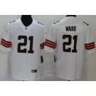 Men's Cleveland Browns #21 Denzel Ward Limited White 2020 Vapor Untouchable Jersey