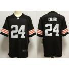 Men's Cleveland Browns #24 Nick Chubb Limited Brown 2020 Vapor Untouchable Jersey