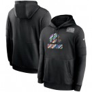 Men's Cleveland Browns Black Crucial Catch Sideline Performance Pullover Hoodie