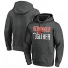 Men's Cleveland Browns Heather Charcoal Stronger Together Printed Pullover Hoodie 0747