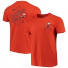 Men's Cleveland Browns Iconic Retro Diamond Scroll Printed T-Shirt 0930